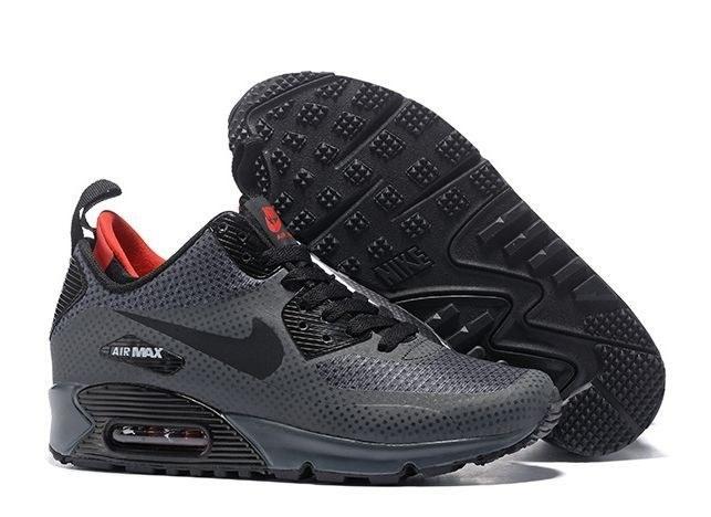 Nike Air Max 90 Winter Mid gray серые (41-44) — купить в Ростове-на-Дону, дисконт интернет-магазин StreetFoot.ru