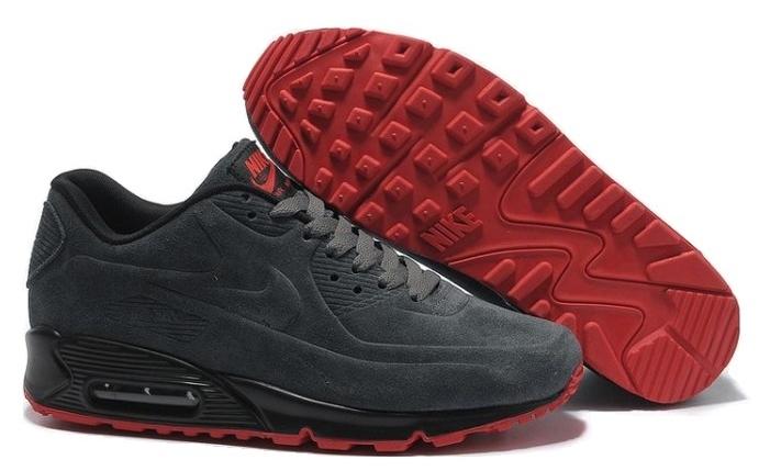 Nike Air Max 90 VT замшевые темно-серые (36-45) — купить в Ростове-на-Дону, дисконт интернет-магазин StreetFoot.ru